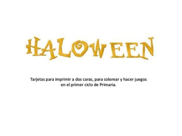 Halloween Flash Cards Para Primer Ciclo Clorear Recortar