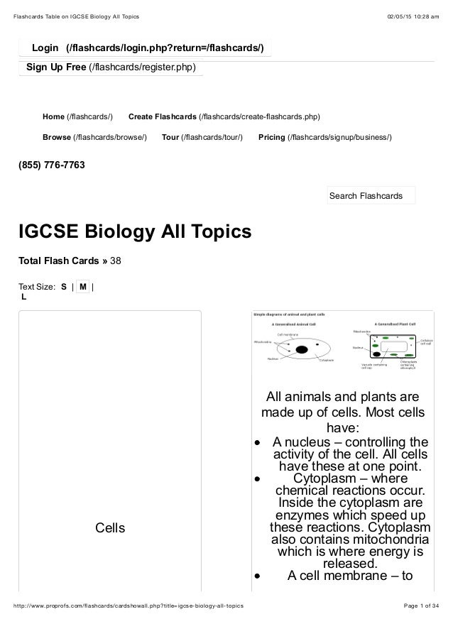 how to write a summary igcse biology