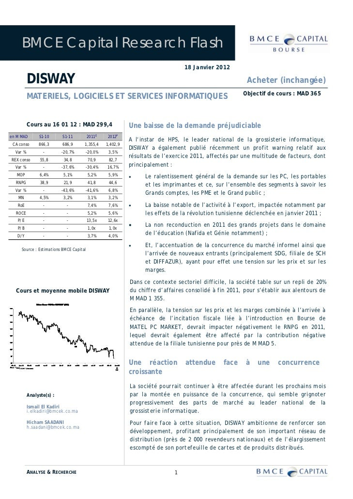 BMCE Capital Research Flash                                                                                18 Janvier 2012...