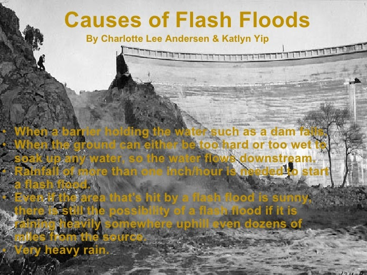 The Cause and Effects of Floods- Cause and Effect Essay