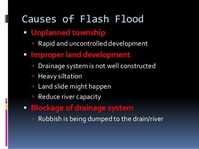 What are the consequences of floods?