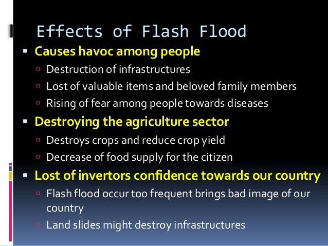 essay on flood scene