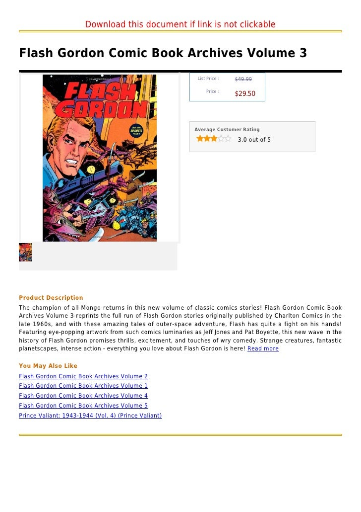 Download this document if link is not clickableFlash Gordon Comic Book Archives Volume 3                                  ...