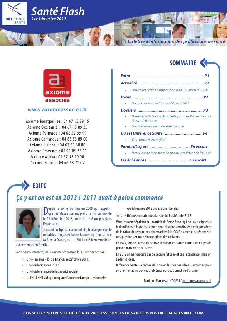 Santé2012             1er trimestre                           Flash                                                       ...