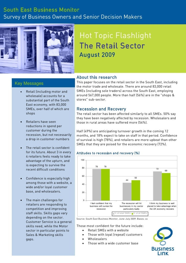 South East Business Monitor Survey of Business Owners and Senior Decision Makers                                          ...