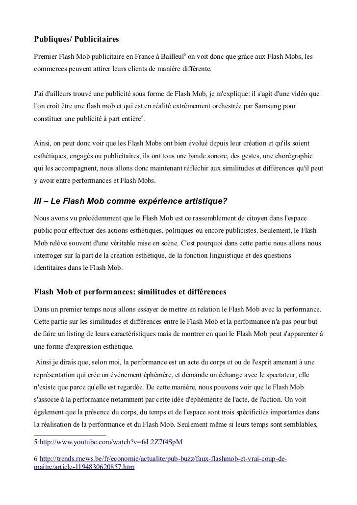 Publiques/ PublicitairesPremier Flash Mob publicitaire en France à Bailleul5 on voit donc que grâce aux Flash Mobs, lescom...