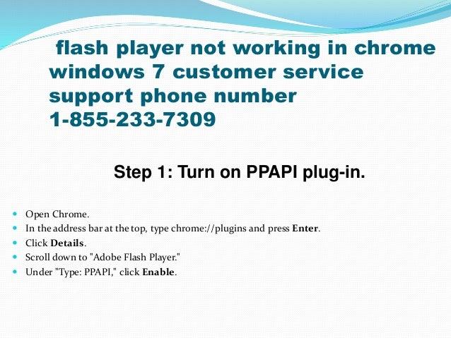 adobe flash not working on chrome