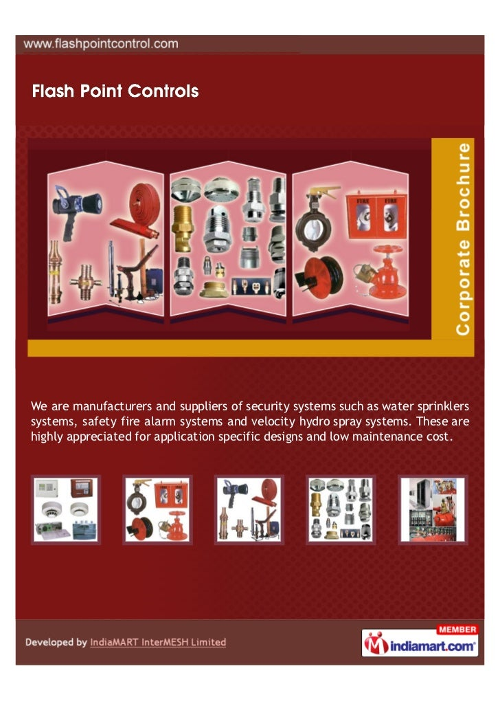 We are manufacturers and suppliers of security systems such as water sprinklerssystems, safety fire alarm systems and velo...