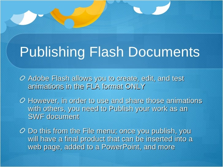 Intro To Adobe Flash