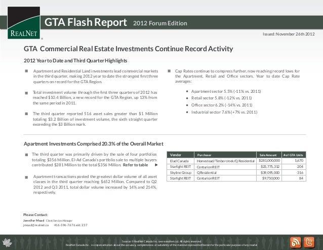 GTA Flash Report                                                   2012 Forum Edition                                     ...