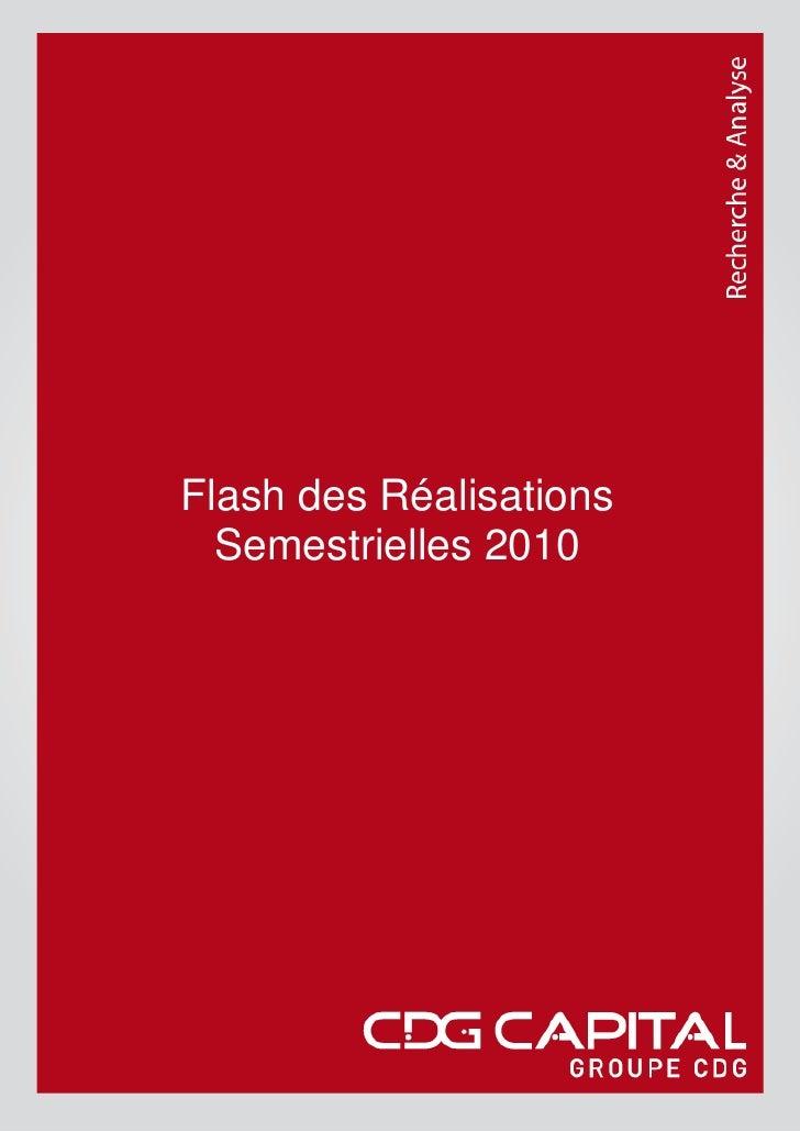 Flash des Réalisations   Semestrielles 2010