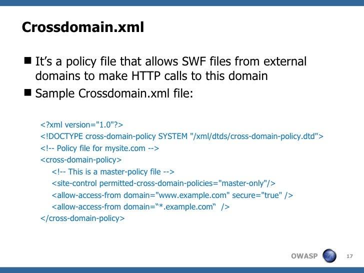 Crossdomain. Xml example flex.