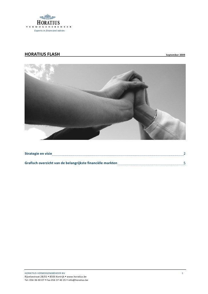 Experts in financieel advies     HORATIUS FLASH                                               September 2009     Strategie...