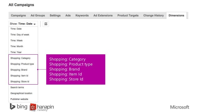 how to use bing shopping