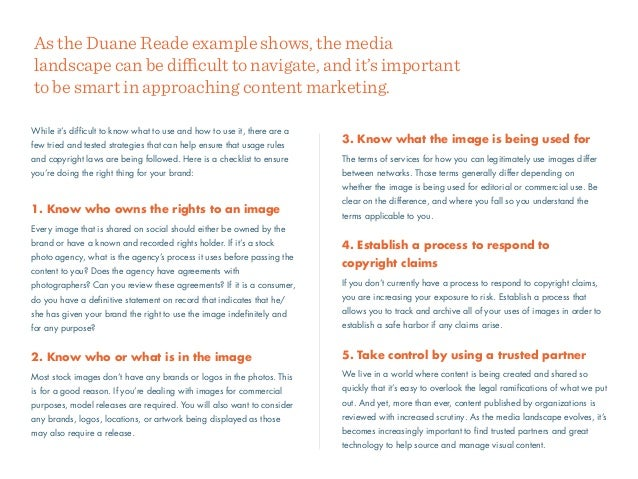 3. Know what the image is being used for The terms of services for how you can legitimately use images differ between netw...