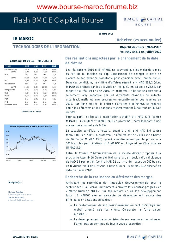 wwww.bourse-maroc.forume.biz            Flash BMCE Capital Bourse                                                         ...
