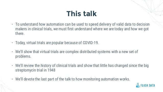 Flaskdata.io automated monitoring for clinical trials Slide 2