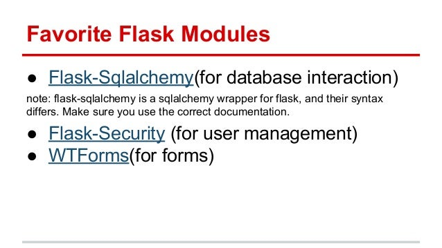 Flask for cs students