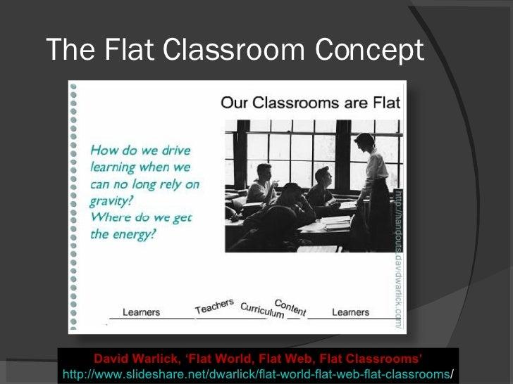 The Flat Classroom Concept David Warlick, 'Flat World, Flat Web, Flat Classrooms' http://www.slideshare.net/dwarlick/flat-...