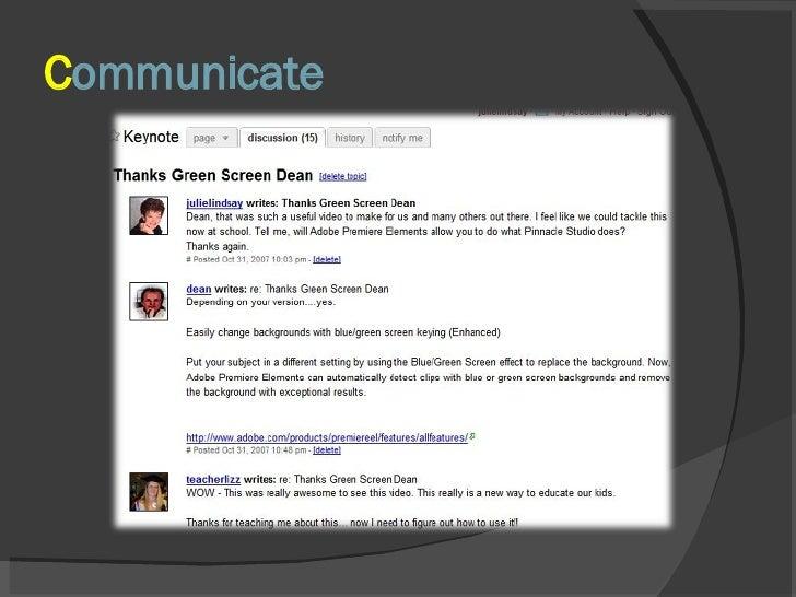 C ommunicate