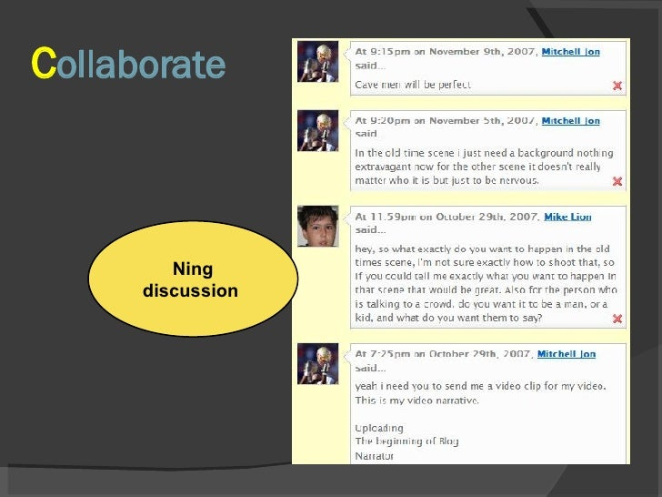 C ollaborate Ning discussion