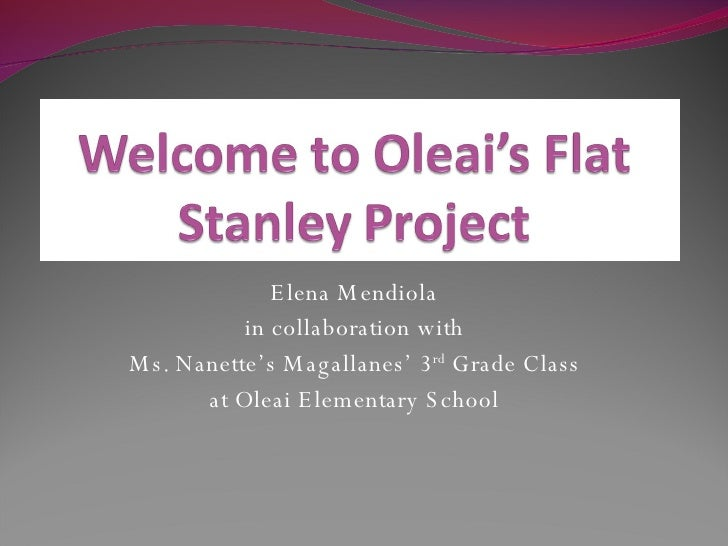 Elena Mendiola in collaboration with Ms. Nanette's Magallanes' 3 rd  Grade Class at Oleai Elementary School