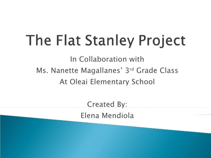 In Collaboration with Ms. Nanette Magallanes' 3 rd  Grade Class At Oleai Elementary School Created By: Elena Mendiola