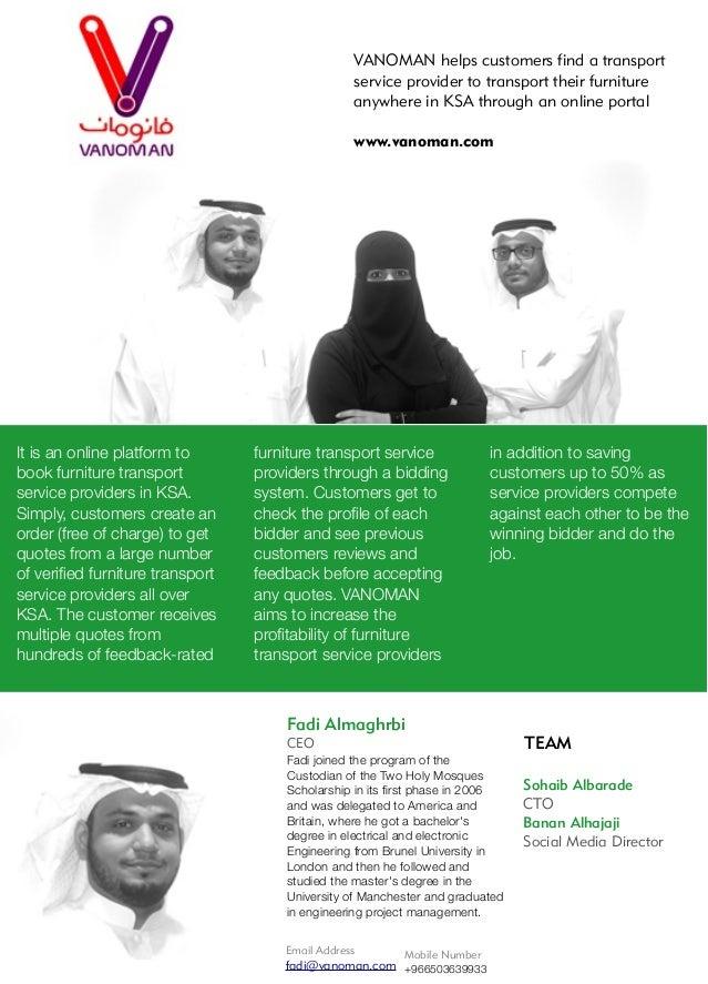 Email Address fadi@vanoman.com Mobile Number +966503639933 Fadi Almaghrbi CEO Fadi joined the program of the Custodian of ...