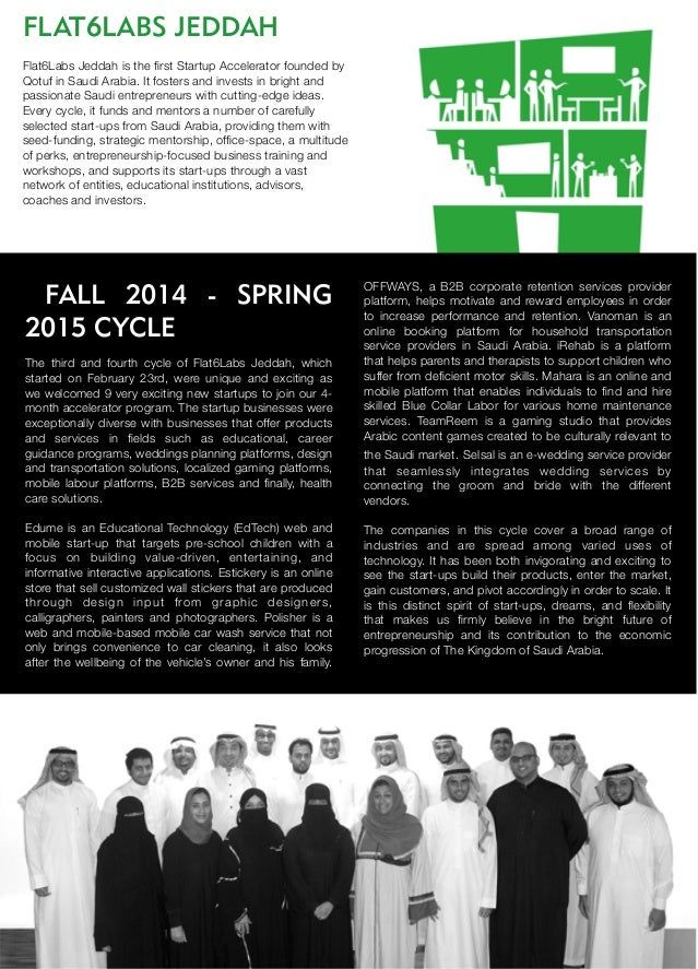 FLAT6LABS JEDDAH Flat6Labs Jeddah is the first Startup Accelerator founded by Qotuf in Saudi Arabia. It fosters and invests...