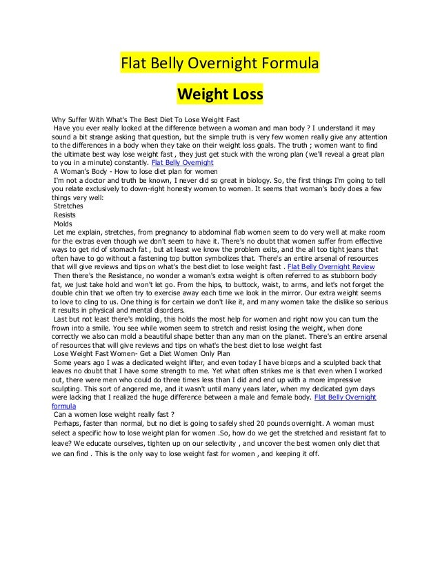 Flat Belly Overnight >> Flat Belly Overnight System