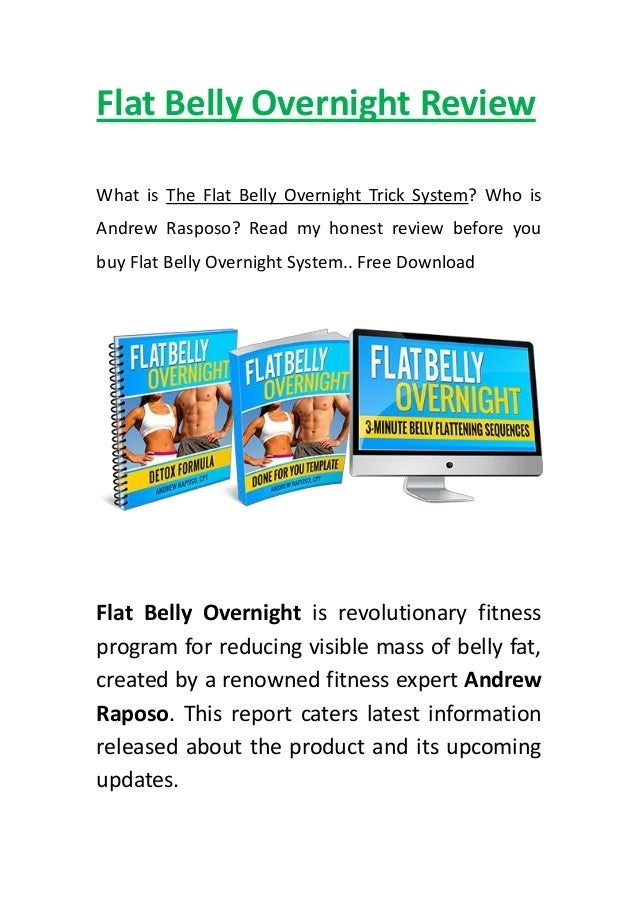 Flat Belly Overnight >> Flat Belly Overnight Review