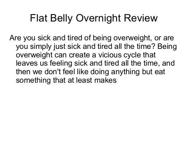 Flat Belly Overnight >> Flat Belly Overnight Review