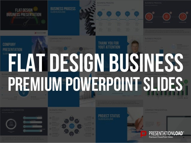 flat design business presentation