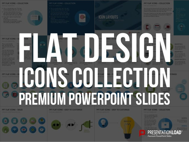 PREMIUM POWERPOINT SLIDES Icons Collection FLAT DESIGN