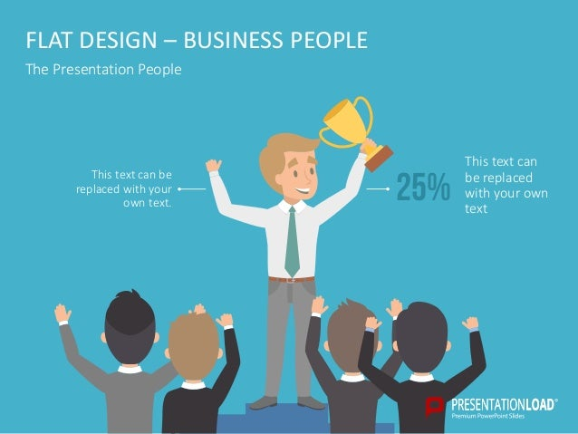 flat design – presentation people ppt template, Powerpoint templates