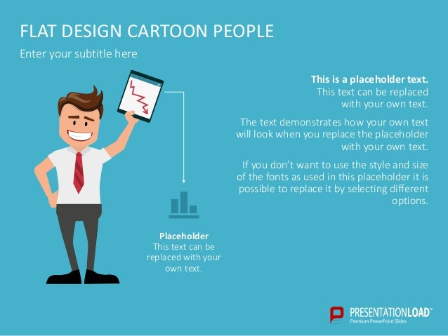 Flat Design Presentation People Ppt Template