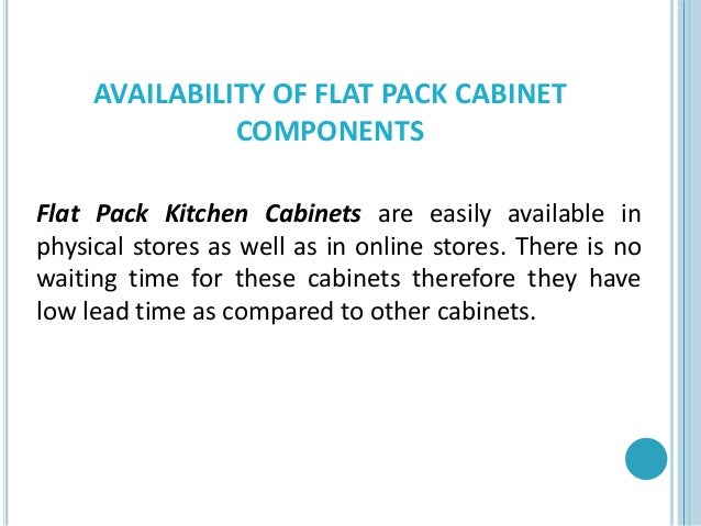 Flat Pack Cabinet Components