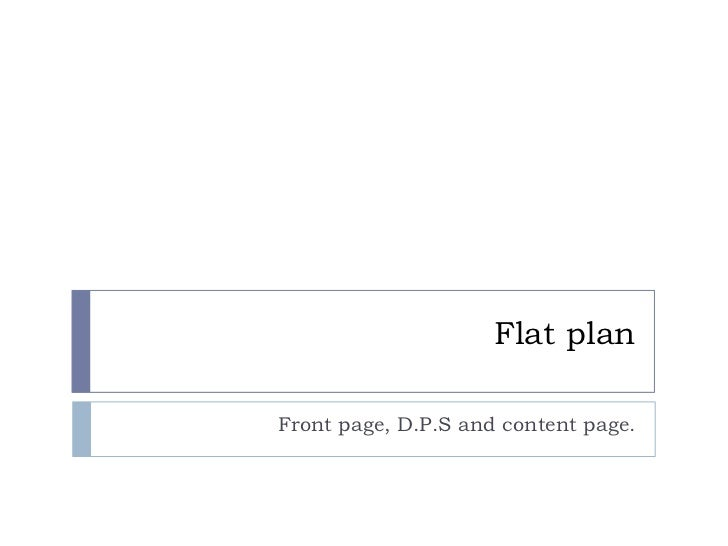 Flat planFront page, D.P.S and content page.