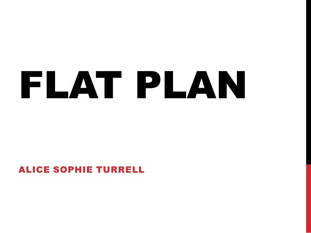 FLAT PLANALICE SOPHIE TURRELL