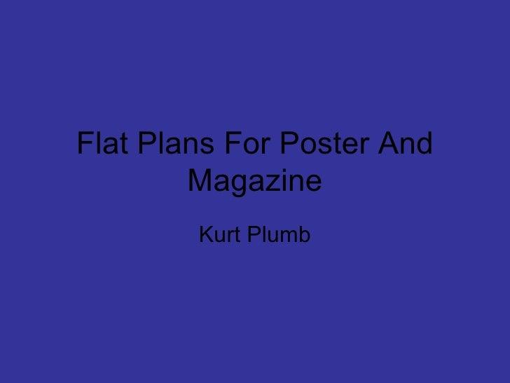 Flat Plans For Poster And Magazine Kurt Plumb