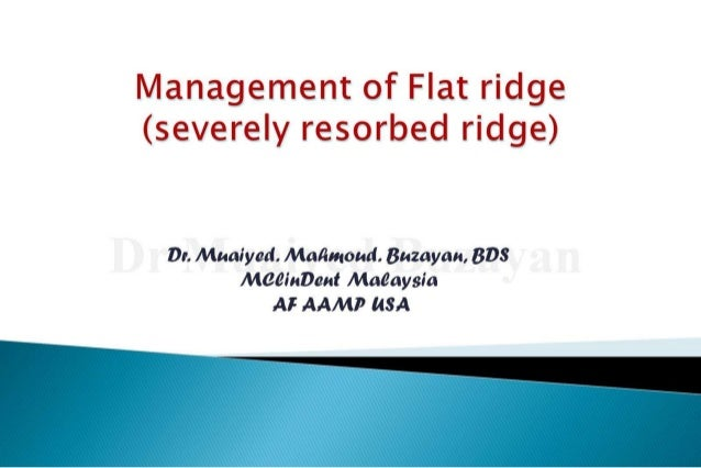Flat ridge management