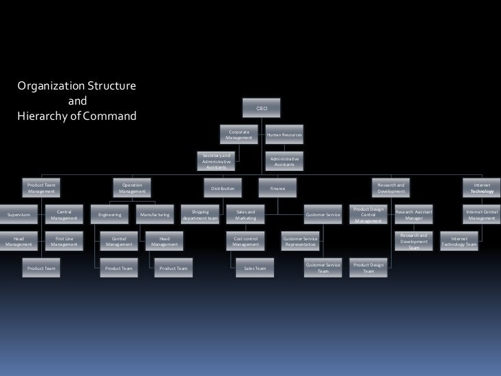 Organization Structure<br />                   and<br />Hierarchy of Command<br />
