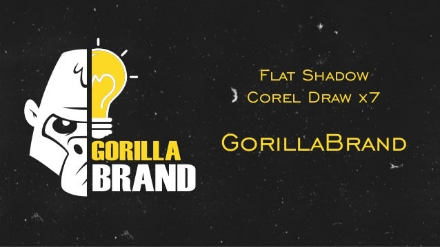 BRAND Flat Shadow Corel Draw x7 GorillaBrand
