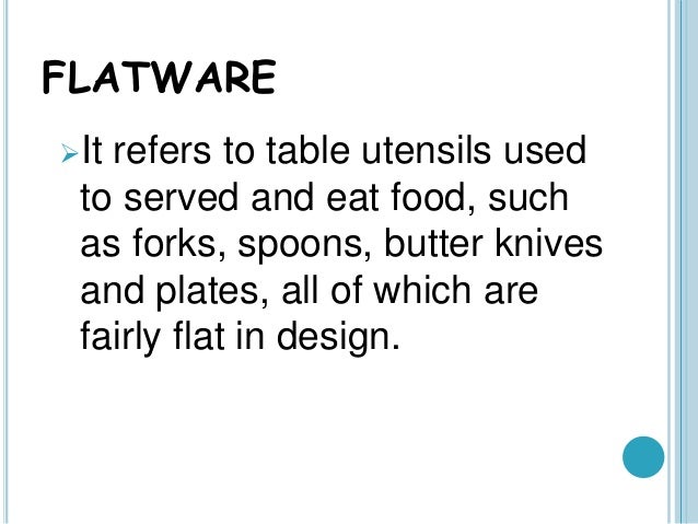Food And Beverages Flatware And Glassware