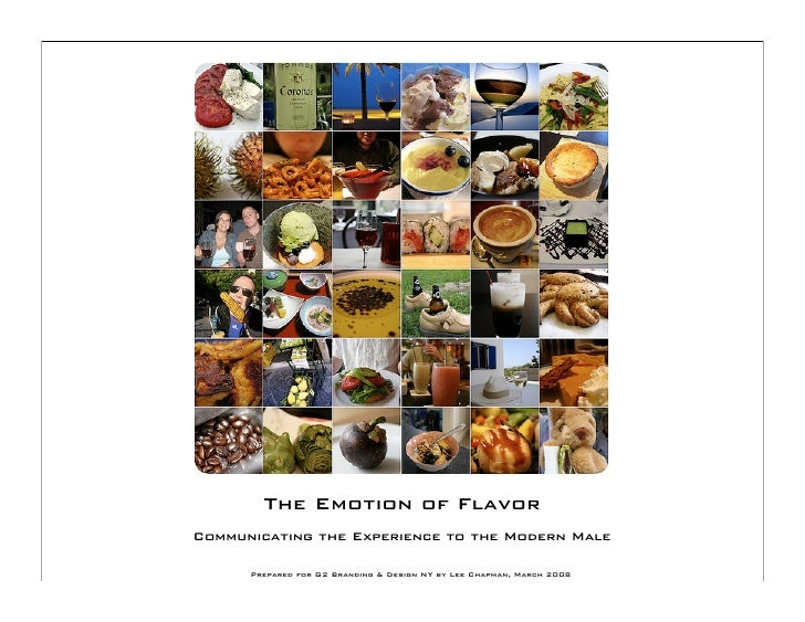 The Emotion of Flavor