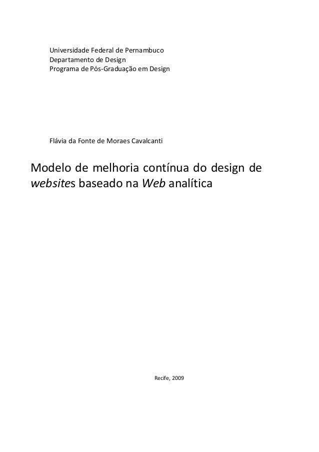 UniversidadeFederaldePernambuco DepartamentodeDesign ProgramadePós‐GraduaçãoemDesign       FláviadaFo...