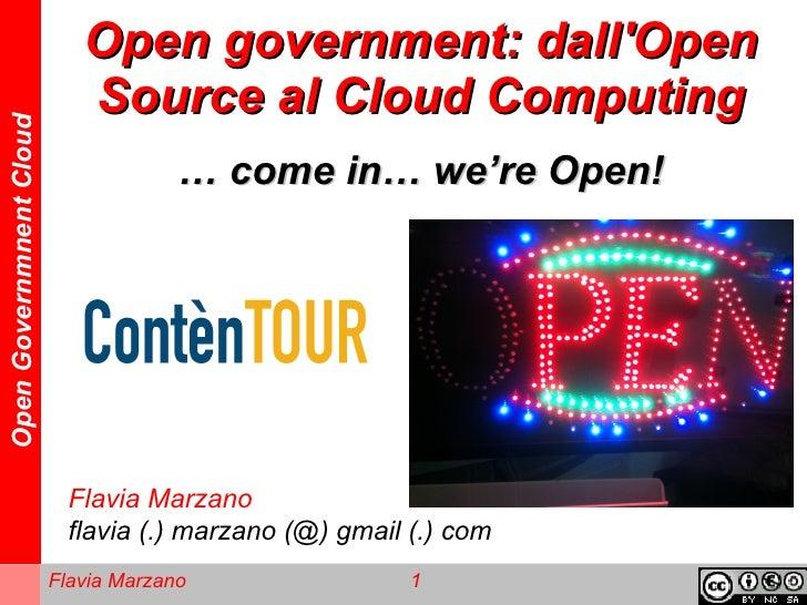 Open government: dallOpen                            Source al Cloud ComputingOpen Governmnent Cloud                      ...