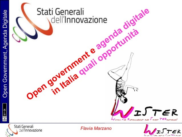 Flavia Marzano  Open Government, Agenda Digitale