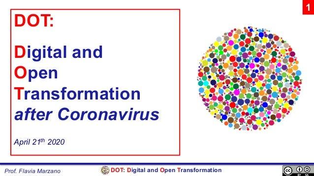 DOT: Digital and Open TransformationProf. Flavia Marzano DOT: Digital and Open Transformation after Coronavirus April 21th...