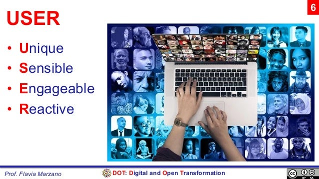 DOT: Digital and Open TransformationProf. Flavia Marzano USER • Unique • Sensible • Engageable • Reactive 6